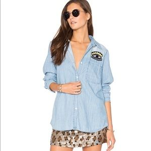 Rails 'Cleopatra' Faded Chambray Button Down Top